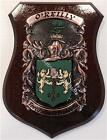 LEAHY to LISTER Family Name Crest on HANDPAINTED PLAQUE - Coat of Arms