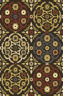 Brown Contemporary Area Rug Modern Floral Trellis Round Oval Runner Carpet