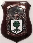 Greene to Hagan Family Handpainted Coat of Arms Crest PLAQUE Shield