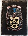 Handpainted COAT OF ARMS Crest Shield on SLATE - Kinsella to Langford