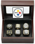 Pittsburgh Steelers Super Bowl Replica Ring Set (6) for years 74 75 78 79 05 08