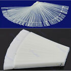 Hot Polish Board Practice 50 Clear Fan Display White False Nail Art Tips Stick