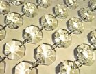 CHANDELIER DROPLETS BEAD CRYSTALS CUT GLASS DROPS 1M GARLAND VINTAGE CHIC COLOUR