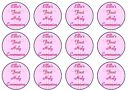 1st First Holy Communion Pink Fairy /Cup Cake Toppers Rice Paper or Icing