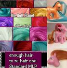 Внешний вид - 1/2 oz Bright Color Nylon Doll Hair for Rehair Reroot My Little Pony Dawn Dolls