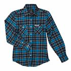 NEW FACTORY EFFEX FX SUZUKI FLANNEL COTTON/ POLYESTER SHIRT BLUE ALL SIZES