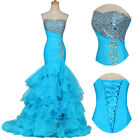Long Sexy Mermaid Formal Prom Dresses Party Evening Pageant Wedding Ball Gowns