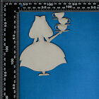 Chipboard Laser Cut Embellishment Alice in Wonderland, Mad Hatter, Cheshire Cat