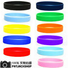 2pcs Assorted Silicone Wristbands Wrist Bands Rubber Bracelets