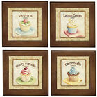 Home Decor Cupcake Ceramic Framed Tile / Wall Art / Entry Table Plaque NEW