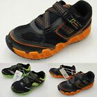 S SPORT by SKECHERS TODDLER LOW Z SNEAKERS Black & Green OR Orange lace