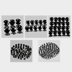 3mm Lot 6,10,20,50,100pcs Round Cut Accent Stone Genuine Natural BLACK SPINEL
