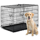 "42"" 2 Doors Pet Folding Suitcase Dog w Divider Cat Crate Cage Kennel w Tray LC"