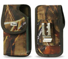 Reiko Camouflage Heavy Duty Canvas Vertical Clip Case for Verizon Cell Phones