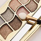 New 12 Colors Women Pro Eyeshadow Shimmer Palette & Cosmetic Brush Makeup Set