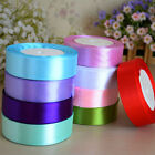 "25 Yards 1"" Satin Ribbon Wedding Party Craft DIY Hair Bow Sewing Xmas Decor hot"