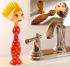 funny lady girl kitchen dish plate washing cleaning sink scrub scrubber brush