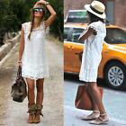 Summer Women White Lace Sleeveless Cocktail Party Short Dress Playsuit H5B0
