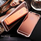 Luxury Ultra-thin Soft Silicone TPU Mirror Case Cover For Apple iPhone 6s 7 Plus