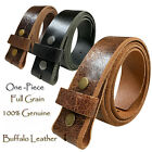 "BS 304 GENUINE FULL GRAIN LEATHER BELT STRAP 1 1/2"" WIDE: BLACK BROWN & TAN NEW"