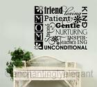 Mom Friend Loving Patient Vinyl Decal Wall Sticker Words Lettering Mothers Day