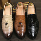 2016 Fashion Men's Slip On Flat Loafers Casual Pointed Toe tassels Shoes