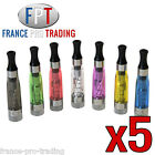 Lot de 5 Clearomiseurs CE4+ 1.6ml + 5 résistances TARIF DESTOCKAGE