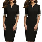 Elegant Women Slim Bodycon OL Business Office Formal Party Evening Pencil Dress
