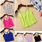 BD Fashion Womens Girls Cross Strap Tank Top Vest Camisole Crop Casual T-Shirt