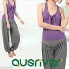 Ladies Yoga Suits Sexy Racerback Tank Top Elastic Loose Casual Exercise Pants
