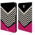 HEAD CASE DESIGNS BLOCK CHEVRON LEATHER BOOK CASE FOR SAMSUNG GALAXY TABLETS