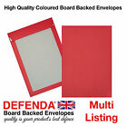 C4-A4  C5-A5 RED Board Backed - Hard Backed Postal Marketing Coloured Envelopes