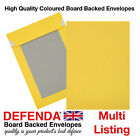 C4-A4 C5-A5 YELLOW Board Backed Hard Backed Postal Marketing Coloured Envelopes