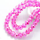 New Colors 100pcs Rondelle Faceted Crystal Glass Loose Spacer Beads DIY 6mm