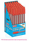 Red Ink Ultra Glide Smooth Writing Ballpoint Pens 1mm Medium Point Office Home