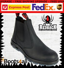 New Redback UBBK Mens Work Easy Escape Chelsea Boots Black Non Steel Toe UK Size