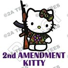 """2nd AMENDMENT KITTY"" T-Shirt- SIZE LARGE-AR15 AK47 OBAMA BENGHAZI  DONALD TRUMP"