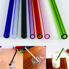 Reusable Straight Pyrex Glass Drinking Straw for Wedding Birthday Party 7 Colors
