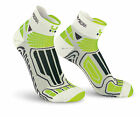 OXYBURN CALZE RUNNING 1260 WHITE/LIME - LIGHT COMPRESSION SHORT CUT