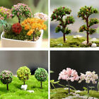 Miniature Sakura Tree Plants Fairy Garden Accessories Dollhouse Ornament SE