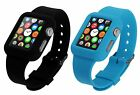 38mm Silicone Jelly Rubber Watch Band Wrist Strap for AppleWatch PiGGyB Two Pack