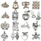 20pcs Handmade Tibetan Silver Charms Pendants Jewelry Finding DIY Spacer Beads
