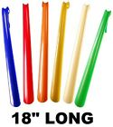 "18"" Long Shoehorn Plastic curved hooked with hanging strap 6 COLORS Shoe Horn"