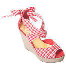 Dancing Days ERIE GINGHAM Vichy Riemchen WEDGES Keilabsatz PUMPS Rockabilly