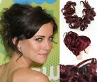 "HAIR CURLY TWIRL CLIP IN WITH ELASTIC BAND HAIRPIECE 24"" CELEBRITY STYLE KOKO UK"