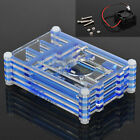 Clear Acrylic Case Shell Enclosure Box + Cooling Fan For Raspberry Pi 3 Model B