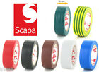 Scapa High Quality Insulation Tape - All Colours Multibuy Savings Black Red etc