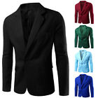 Men Casual Slim Formal One Button Suit Blazer Coat Jacket Tops Bussines clothing
