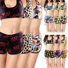 Womens Printed Crop top Vest + Shorts Bikini Set Swimwear Beach Bathing Swimsuit