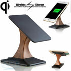 180° Rotating Qi Wireless Charger Charging Pad Stand Holder for Samsung iPhone
